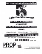 PROP - Police Reform - May 23 General Meeting