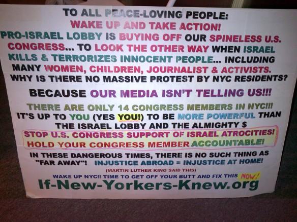 Israel Lobby Sign